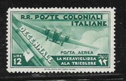 Italian Colonies Scott # C25 Mint Hinged Plane, 1933 - General Issues