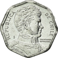 Monnaie, Chile, Peso, 2008, Santiago, TTB, Aluminium, KM:231 - Chili