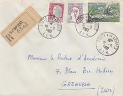 LETTRE ALGERIE.  10 9 62. RECOMMANDÉ. POSTE AUX ARMEES AFN. SP.87.053  POUR GRENOBLE .   / 3 - Algerien (1962-...)