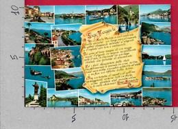 CARTOLINA VG ITALIA - LAGO MAGGIORE - Vedutine Multivue - Filastrocca Poesia - 10 X 15 - ANN. 1969 - Verbania