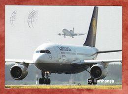 Lufthansa Airbus A310-200, EF Europa Entdeckung Amerikas, Koenigsbrunn Nach Karlsruhe 1993 (60601) - 1946-....: Ere Moderne
