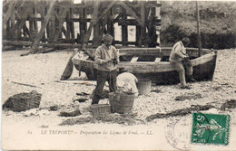 LE TREPORT - Préparation Ds Lignes De Fond (110034) - Le Treport