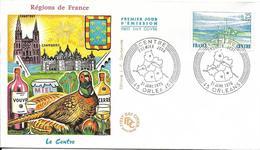 Env Fdc France N° 1863 Yt, Orléans 31/1/76, Région Centre, Faisan, Vin Vouvray, Sancerre, Château De Chambord.. - 1970-1979