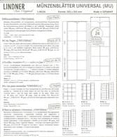 LINDNER - Feuilles MONNAIES MULTI COLLECT 24 CASES (MU 24) - Matériel