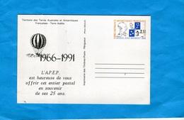 -T A A F-entier Postal- Stationnery-carte N°1-neuf 2.3 Amiral Douguet-TSC--1966-91 APEP 1966-91 - Entiers Postaux
