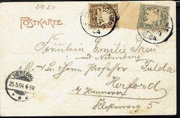 "ALLEMAGNE - 1904 - Afranchissement à 5 Pf. Sur CPA ""Hirschbach Mit Schwarzen Brand"" Pour Herford - B/TB - - Bavière"