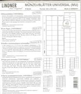 LINDNER - Feuilles MONNAIES MULTI COLLECT 40 CASES Pour Séries D'Euro (MU 40) - Matériel