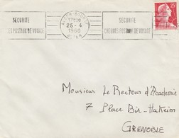 LETTRE ALGERIE.  25 4 60. ALGER BOURSE  POUR GRENOBLE .   / 3 - Algeria (1924-1962)