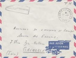 LETTRE ALGERIE. 14 12. POSTE AUX ARMEES AFN  POUR GRENOBLE .   / 3 - Algeria (1924-1962)