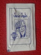 SPAIN SOBRE DE AZÚCAR PACKET OF SUGAR SUCRE ZUCKER ZUCCHERO VACÍO LEYENDAS DEL ROCK LEGENDS JANIS JOPLIN CANTANTE MUSIC - Sucres