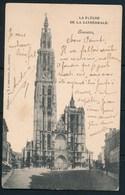 """ANTWERPEN (ref. CP Nr 81) - Kathedraal - """"ANVERS (STATION) > """"PARIS"""" 09-08-1903 - Antwerpen"""