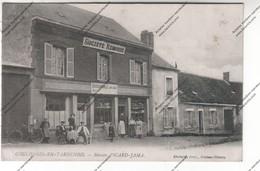 Belle CPA COULONGES-EN-TARDENOIS (02) : Café Restaurant Maison PICARD-JAMA Société Rémoise (soldat BOBIN 1917) - France