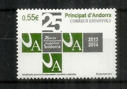 Enseignement Superieur En Andorre Depuis 25 Ans, Un Timbre Neuf ** Année 2015 - Spaans-Andorra
