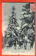 LON-27 Sports D'hiver, En Skis. Schifahren.  Circulé En 1907 Vers France, Tampon Chesières. - VD Waadt