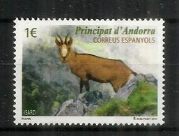 ANDORRE: L'Isard Des Pyrénées, Un Timbre Neuf ** Année 2015 - Spaans-Andorra