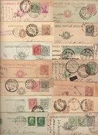 (St.Post.).Regno.V.E.III.Lotto Di 30 Interi Postali Di Diversa Tipologia,annulli Ecc. (38-18) - 1900-44 Victor Emmanuel III