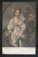 *J. B. Greuze - The Broken Pitcher* Paris, Louvre. Oilette Nº 9122. Nueva. - Pintura & Cuadros