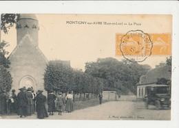 28 MONTIGNY SUR AVRE LA PLACE CPA BON ETAT - Montigny-sur-Avre