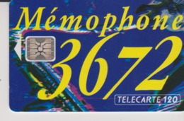 TELECARTE - MEMOPHONE 3672  - 120 Unités - 1993