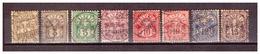 CH02) SVIZZERA1882-99 - Cifra Sormontata Da Una Croce- Unificato 63-70  F1 USED - Used Stamps