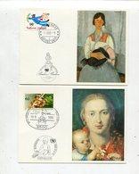 Offizielle Kunstkarte Unicef / 4 Schoene Karten (30210-20) - Briefmarken