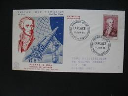 FDC  1955    N° 1031  Pierre Simon Marquis De Laplace   à Voir - FDC