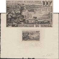 Sénégal 1965 Y&T PA 47. Bords De La Gambie Au Sénégal Oriental. Vue Du Fleuve - Géologie