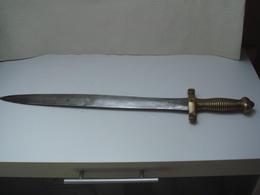 Glaive Infanterie Lame De 47,5 Cm Numéroté 571 - Knives/Swords