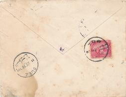 219/27 - EGYPTE SINAI - Lettre TP De La Rue TOR 1906 Vers PARIS Via SUEZ - Cachet TRES RARE - Égypte