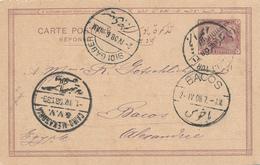220/27 - EGYPTE SINAI - Entier Postal De La Rue CAMPEMENT TOR 1908 Vers BACOS Alexandrie - Cachet TRES RARE - Égypte