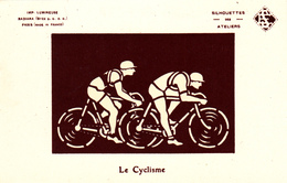 CPA à Système Carte Lumineuse Vélo Bicyclette Cyclisme Coureur Cycliste Cycling Radsport - Hold To Light