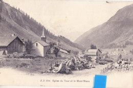 Kyl- 74 Hte Savoie  Cpa  EGLISE Du TOUR & Le Mt BLc - Francia