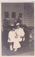 MADRE E HIJA MERE ET FILLE MOTHER & DAUGHTER COMMUNION WHITE DRESS . VINTAGE CIRCA 1930's NON CIRCULEE- BLEUP - Fotografie