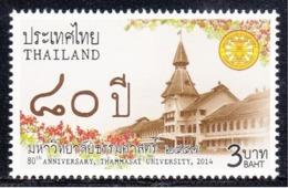 12.- THAILAND 2014 80th ANNIVERSARY OF THAMMASAT UNIVERSITY - Tailandia