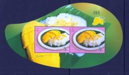 1.- THAILAND 2015 50th Anniversary Of Thailand - Singapore Diplomatic Relations Souvenir Sheet [Mango Shaped] - Tailandia