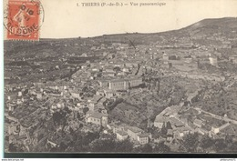 CPA  Thiers - Vue Panoramique -  Circulé 1914 - Thiers