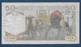 Banque Afrique Occidentale - BILLET De  50 F  Du  2 - 10 - 1951 - Billets