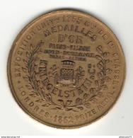 Médaille D'or Exposition Universelle De Londres 1852 - Pianos Kriegelstein - Uniface - Firma's