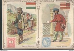 Chromo  Chocolat Lombart - Facteur Hongrois - Facteur Hindou - Lombart