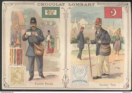 Chromo  Chocolat Lombart - Facteur Persan - Facteur Turc - Lombart