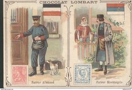 Chromo  Chocolat Lombart - Facteur Allemand - Facteur Monténégrin - Lombart