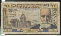 Billet 500 Francs Victor Hugo 4-3-54 O Bon état - 1871-1952 Circulated During XXth