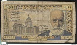 Billet 500 Francs Victor Hugo 4-3-54 Q Bon état - 1871-1952 Anciens Francs Circulés Au XXème