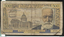 Billet 500 Francs Victor Hugo 4-3-54 Q Bon état - 1871-1952 Circulated During XXth