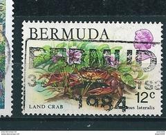 N° 358  Mich Crustacés Land Crab Timbre Des Bermudes 1979 Oblitéré BERMUDA Crabe - Bermudes