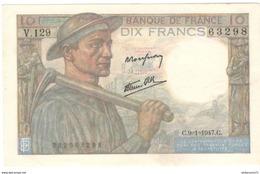 10 Francs Mineur 9-1-1947 Très Bon état - 10 F 1941-1949 ''Mineur''