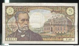 Billet 5 Francs France Pasteur 5-5-1967 - 1962-1997 ''Francs''
