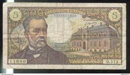 Billet 5 Francs France Pasteur 8-1-1970 - 5 F 1966-1970 ''Pasteur''