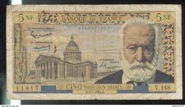 5 NF Nouveaux Francs Victor Hugo 1-7-1965 - 5 NF 1959-1965 ''Victor Hugo''