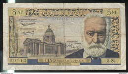 5 NF Nouveaux Francs Victor Hugo 15-10-1959 - 5 NF 1959-1965 ''Victor Hugo''